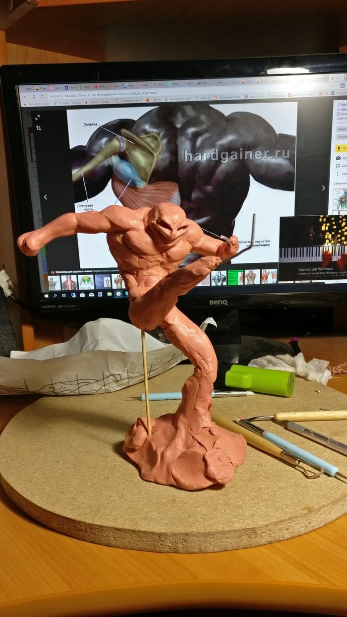 [Скульптура] Ностальгия по детству. Battletoads Battletoads, Скульптура, Авторская игрушка, Статуэтка, Лепка, Nintendo, Rare, Гифка, Длиннопост
