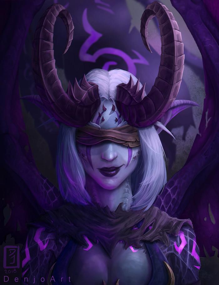 Охотница на демонов. World of Warcraft, Demon Hunter, Арт, DenjoArt