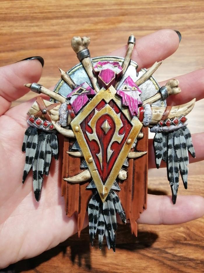 Сувенирные гербы из Warcraft Warcraft, World of warcraft, Орда, Альянс, Орки, Отрекшиеся, Своими руками, Длиннопост