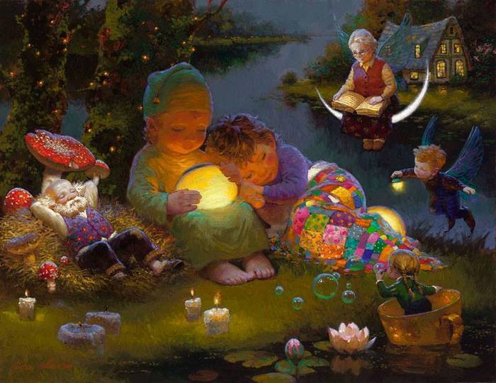Художник, который рисует сны Художник, Волшебство, Мир снов, Длиннопост