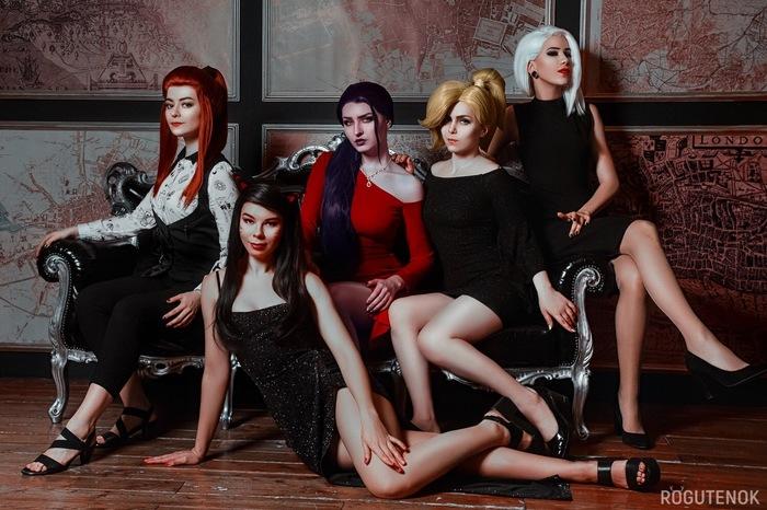 Overwatch Holidays Косплей, Overwatch, Brigitte, Mercy, Ashe, Widowmaker, Dva, Девушки, Длиннопост