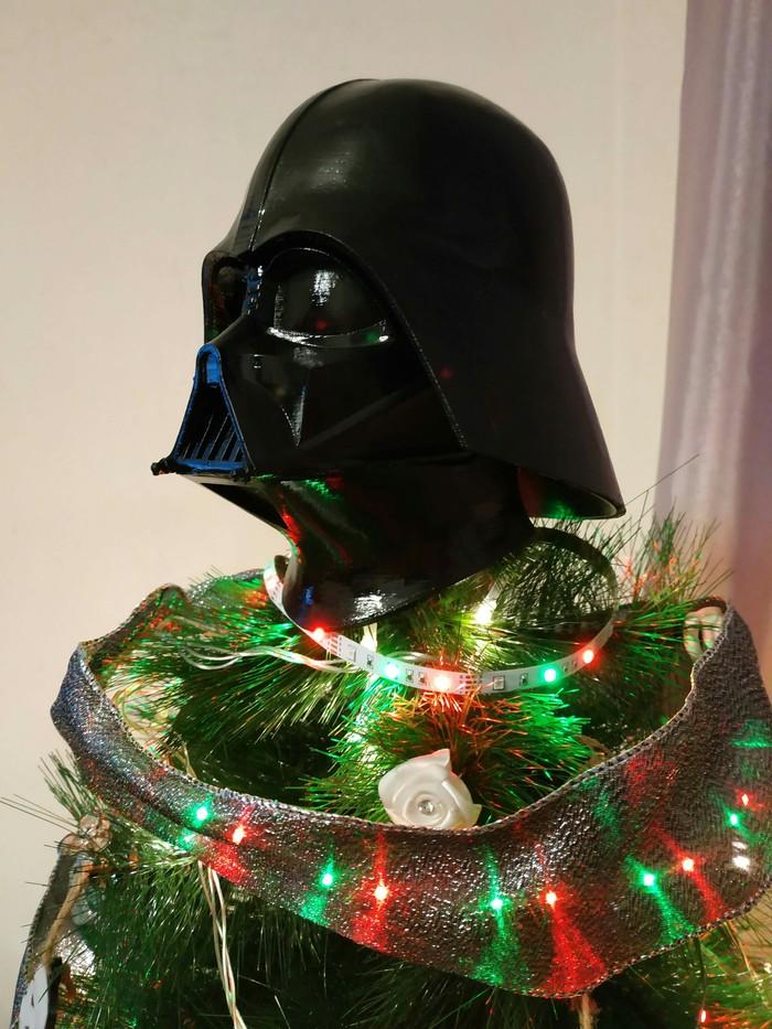 Наша новогодняя елка 3D принтер, Star Wars, Vader, Ручная работа, 2019, Новогодняя елка, Дарт Вейдер, Длиннопост