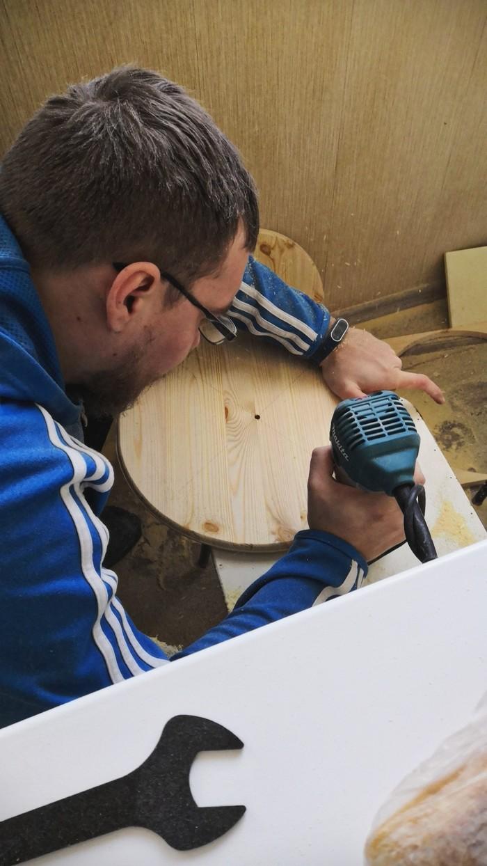 Вторая жизнь табуретки Дерево, Реставрация, Мебель, Своими руками, Табуретка, Рукодельники, Новый Год, Рукоделие с процессом, Длиннопост
