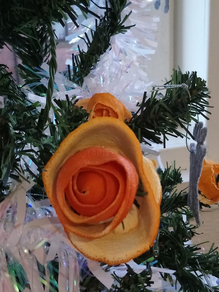 Украшение Новогодней Ёлки Новый Год, Украшение, Мандарины, Ручная работа, Длиннопост
