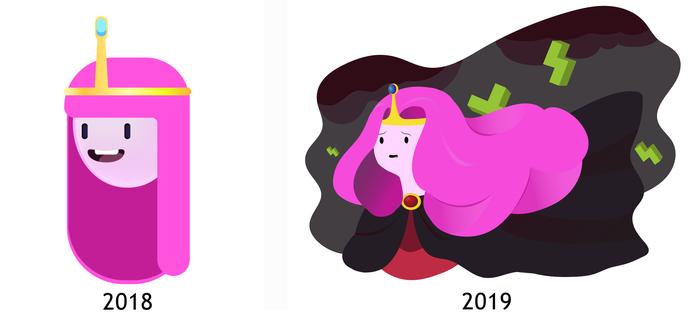 Год изучения Adobe Illustrator Adobe Illustrator, Art vector, Вектор, Иллюстрации, Обучение, Adventure Time, Marvel, Длиннопост