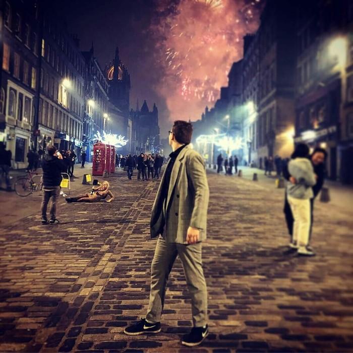 Новый Год в Эдинбурге похож на постер нового фильма во вселенной Гарри Поттера