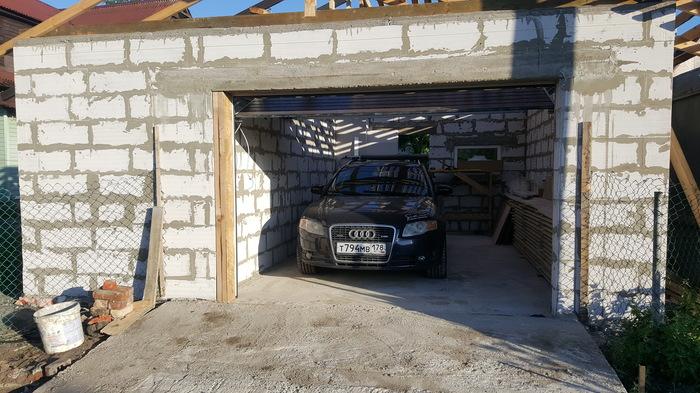 Строительство гаража. Строительство, Гараж, Длиннопост