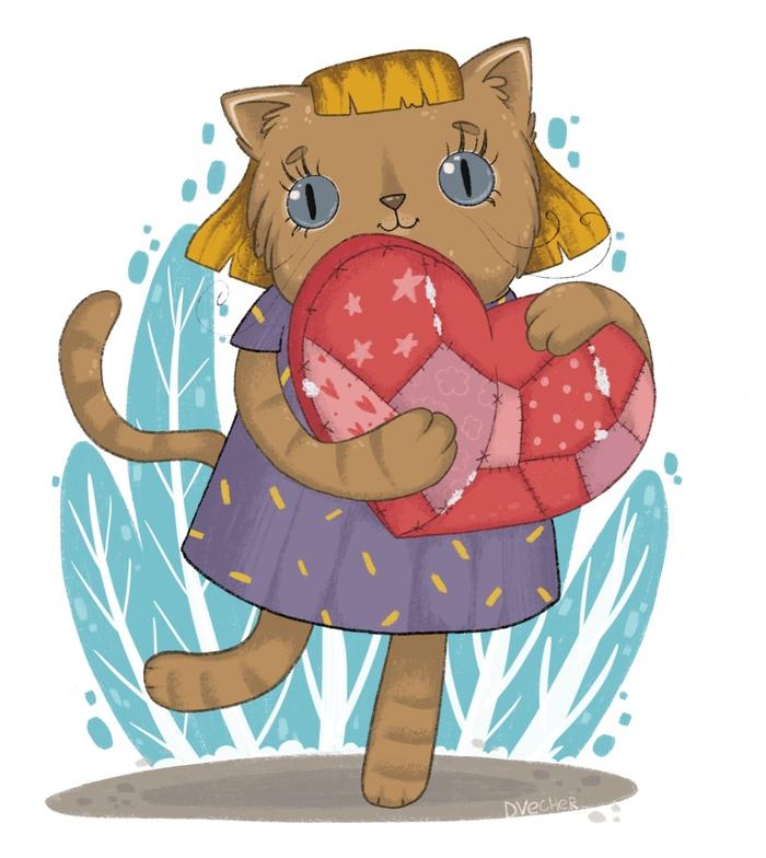 Котя с подарком