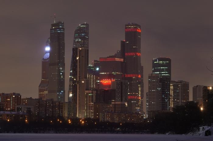 Вечерняя Шелепиха и Сити Фотография, Nikon, Москва-Сити, Москва-Река, Длиннопост