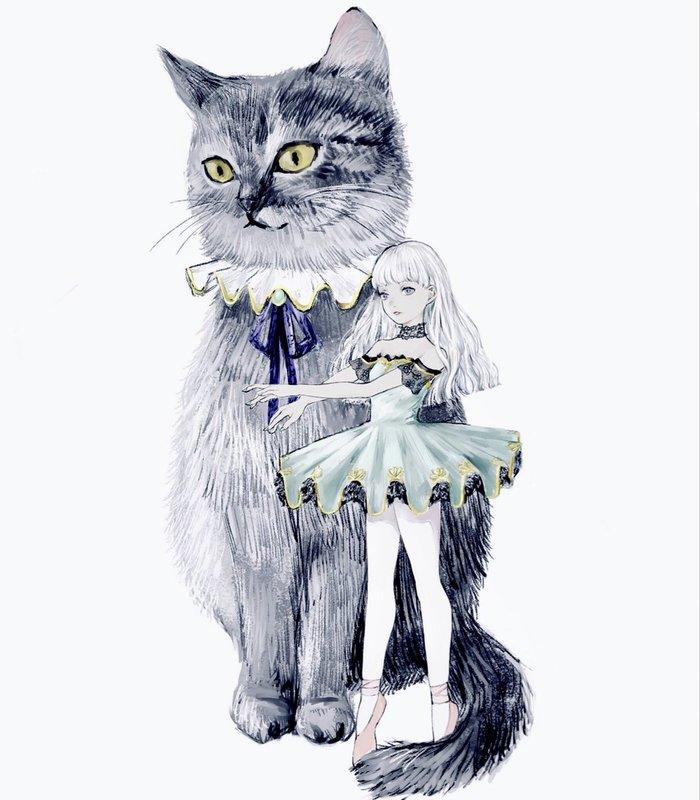 Гиганты Арт, Рисунок, Anime Art, Anime Original, Twitter, Кот, Кабан, Птицы, Длиннопост