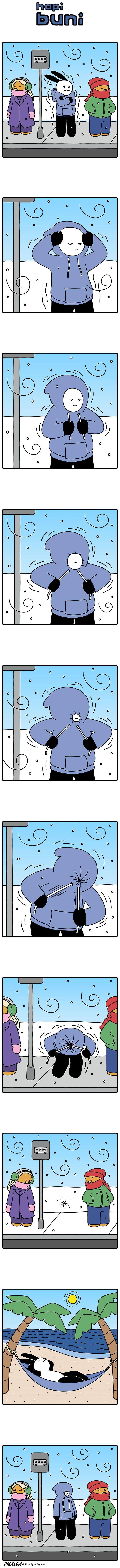 Утеплился Buni, Pagelow, Зима, Холодно, Утепление, Комиксы, Длиннопост