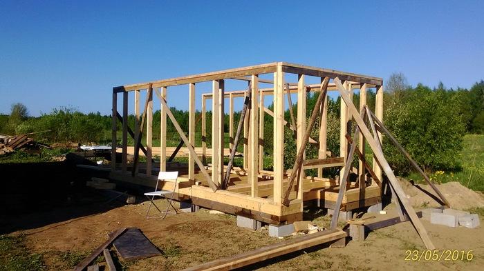 Что мне стоит дом построить? Самострой, Женщина, Каркасный дом, Опилки, Длиннопост, Строительство