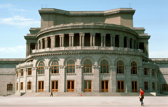 Армянский театр оперы и балета. Ереван СССР 1985 г.