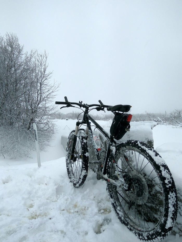 Внезапная радость! Велосипед, Снег, Покатушки, Длиннопост, Анапа