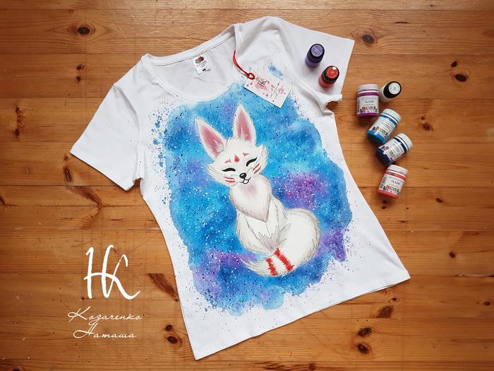 Ручная роспись Белая лисица