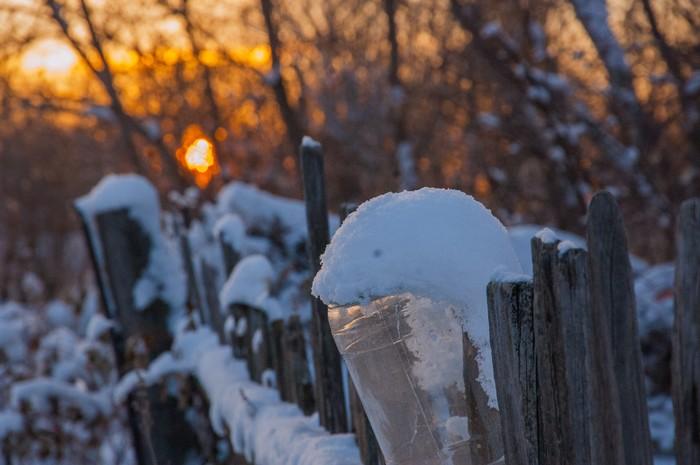Зимнее утро в деревне. Деревня, Зима, Утро, Восход, Россия, Природа, Тишина, Фотография, Длиннопост