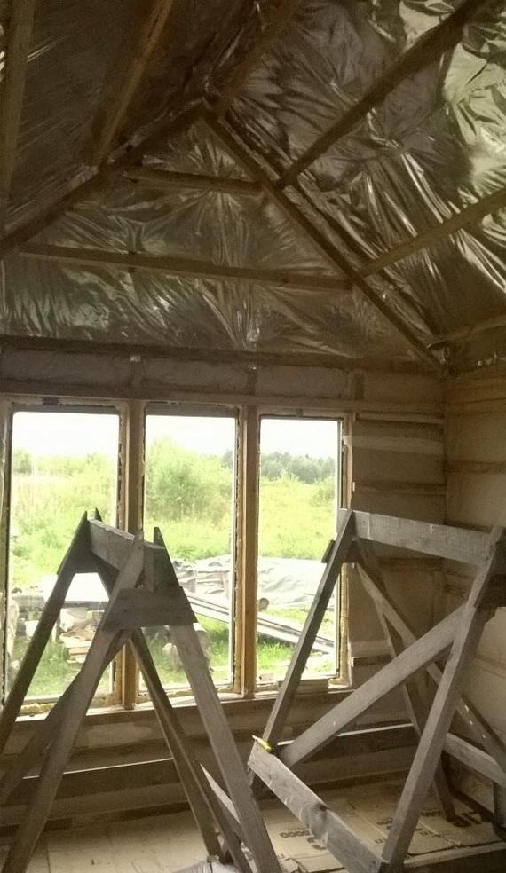 Что мне стоит дом построить? II часть. Длиннопост, Женщина, Самострой, Опилки, Каркасный дом