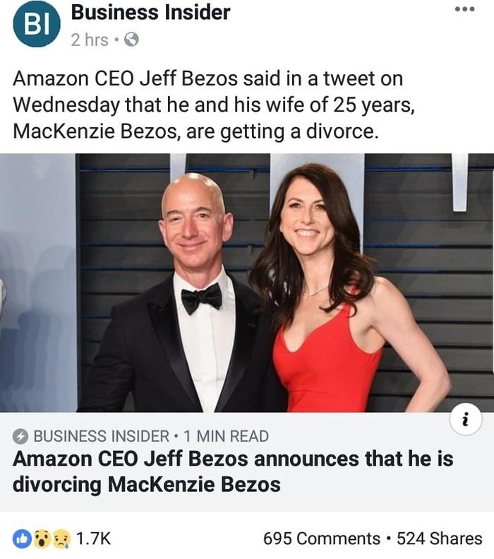 Джефф Безос разводится с женой Развод, Amazon, Новости, Скриншот, Знаменитости, Джефф Безос