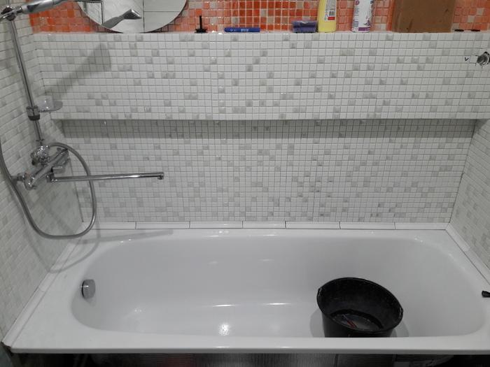 Процесс замены душевой кабины на нормальную ванную Строительство и ремонт, Ванная, Длиннопост