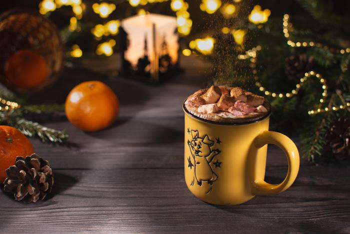 Вечерний кофе с зефиркой Начинающий фотограф, Фотография, Кофе, Рождество, Настроение