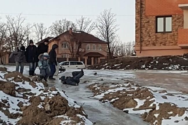 Детская площадка из говна Амурская область, Дети, Горка, Канализация, Длиннопост, Негатив