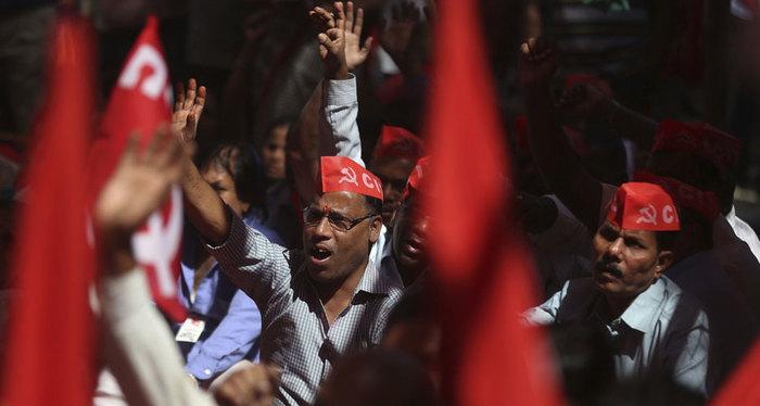 Крупнейшая забастовка в истории человечества проходит в Индии Индия, Забастовка, Рабочее движение, Профсоюз, Коммунизм, Видео, Длиннопост, Новости
