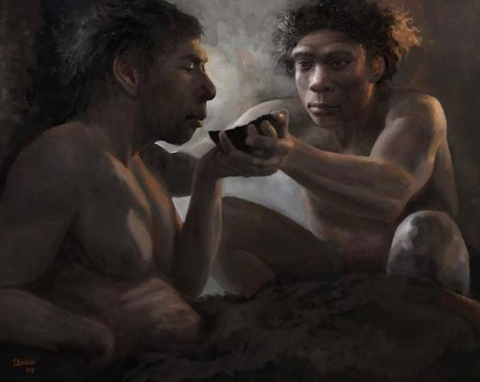 Человек неандертальский Палеонтология, Познавательно, Интересное, Арт, Палеоарт, Неандерталец, Прошлое, Длиннопост
