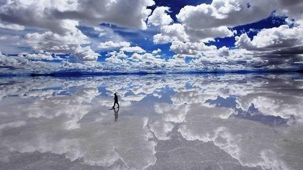 Невероятно красивый солончак в Боливии Природа, Море, Солончак, Боливия, Короткопост