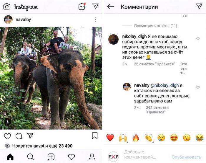 Безработный Навальный заработал на слонов.