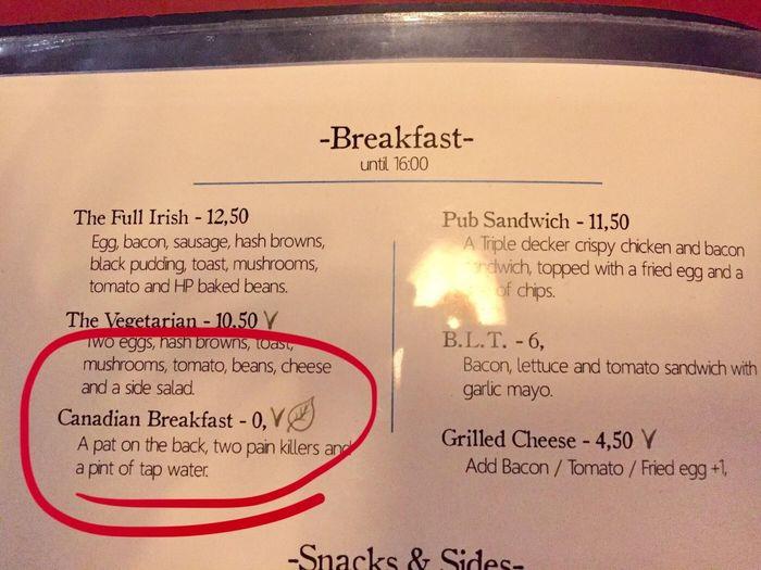 Что такое канадский завтрак