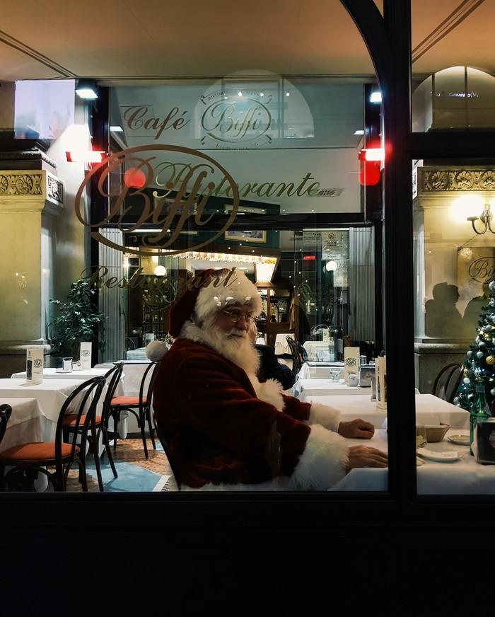 Нетайный Санта Фотография, Санта-Клаус, Италия