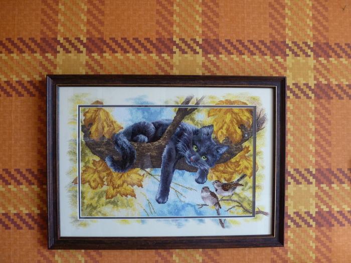 Вышивка + дорисовка художника Рукоделие без процесса, Вышивка крестом, Кот