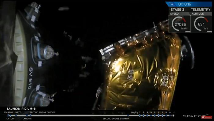 SpaceX запустила ракету Falcon 9 со спутниками связи Iridium NEXT Spacex, Falcon 9, Iridium NEXT, Старт, Спутник, Космос, Техника, Технологии