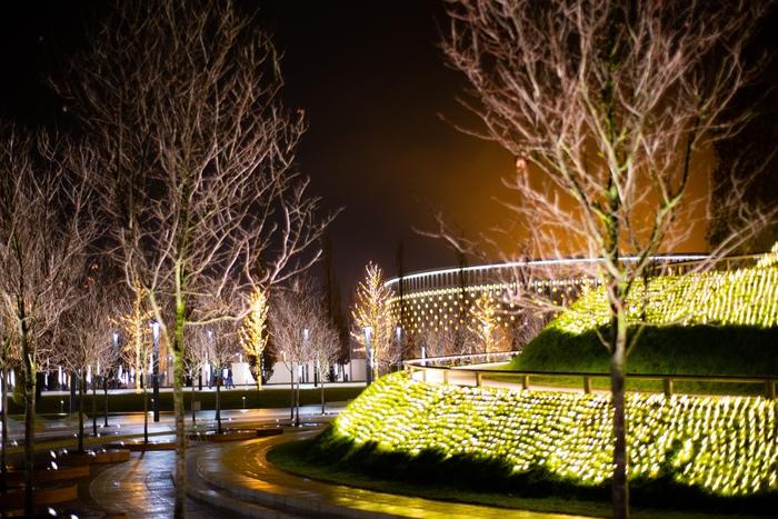 """Новогодний парк """"Краснодар"""" Краснодар, Парк, Город, Новый Год, Иллюминация, Украшения, Ночь, Фотография, Длиннопост"""