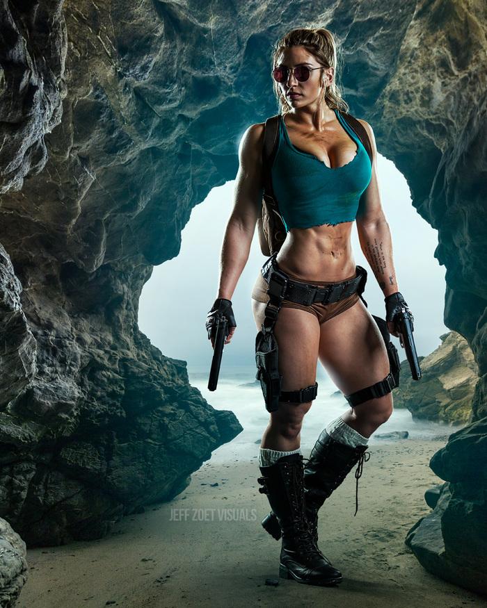 Lara Croft < Alyssa Loughran > Косплей, Косплееры, Компьютерные игры, Костюм, Крепкая девушка, Лара Крофт