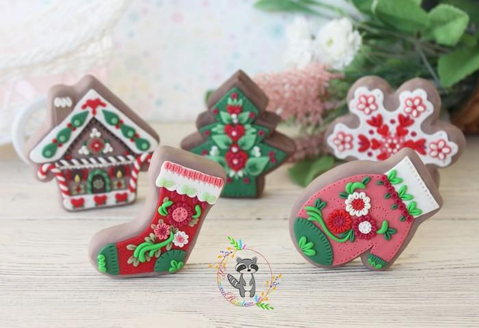 Новый год закончился, а я продолжу немного новогоднюю тематику и выложу мои новогодние прянички Полимерная глина, Ручная работа, Новый Год, Пряники, Красота, Лепка, Handmade, Формы, Длиннопост