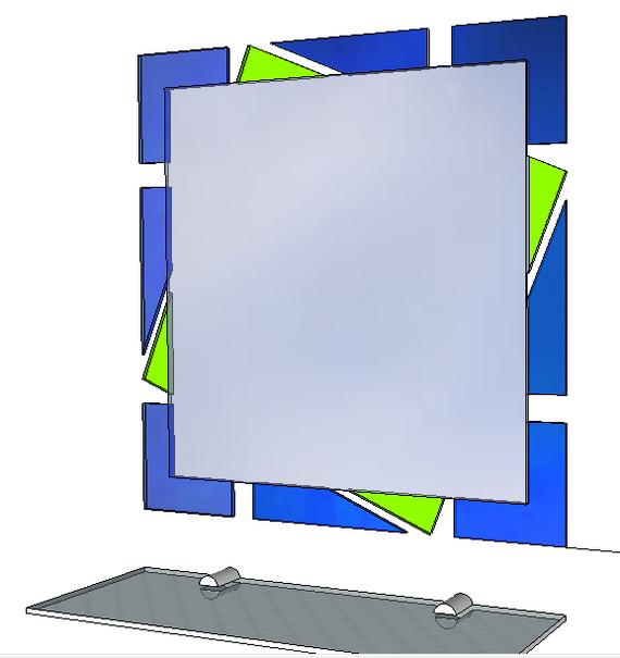 Зеркало в стиле Конструктивизм Зеркало, Зеркало для ванной, Золотое сечение, Фибоначчи, Число фибоначчи, Длиннопост, Рукоделие без процесса