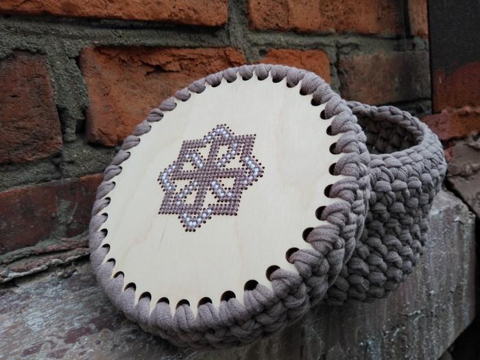 Корзинка . Вязание и вышивка Вышивка, Вязание, Вязание крестиком, Рукоделие без процесса