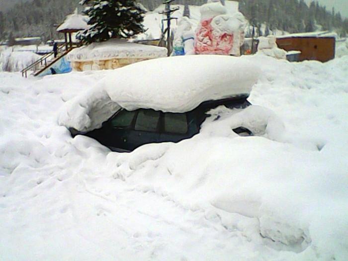 Последствия Нового Года. Снег, Машина, Завалило, Запой, Новый Год