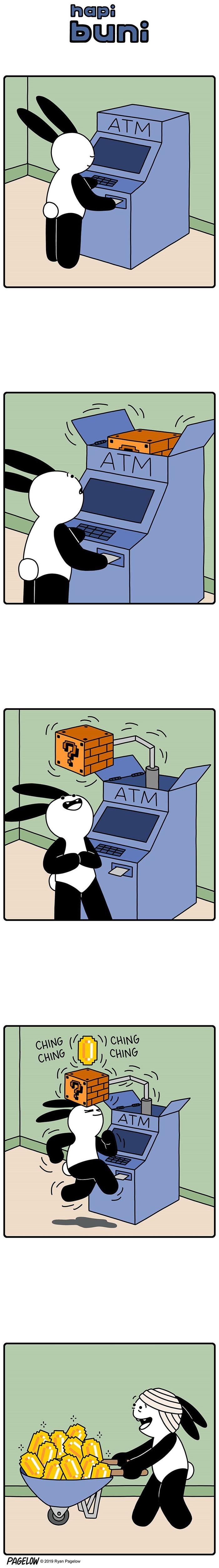 Необычный банкомат Buni, Pagelow, Банкомат, Марио, Комиксы, Длиннопост