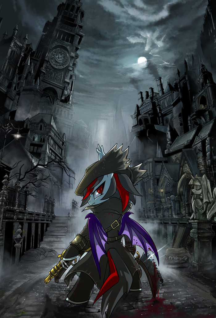 Good Hunter! My Little Pony, Bloodborne, Crossover, Original Character, Batpony, Renokim