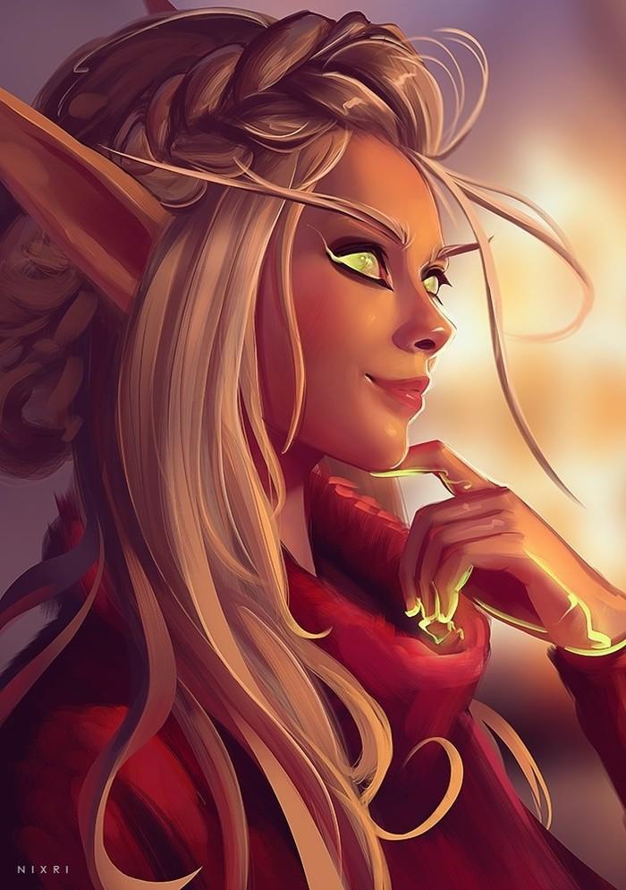 Blood elf by Nixri.