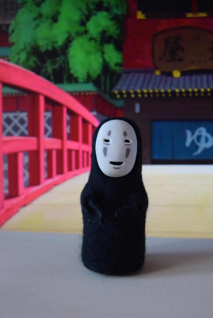 Безликий бог - Каонаси Рукоделие без процесса, Аниме, Унесенные призраками, Сухое валяние, Оборотни, Призрак, Ручная работа, Handmade, Длиннопост