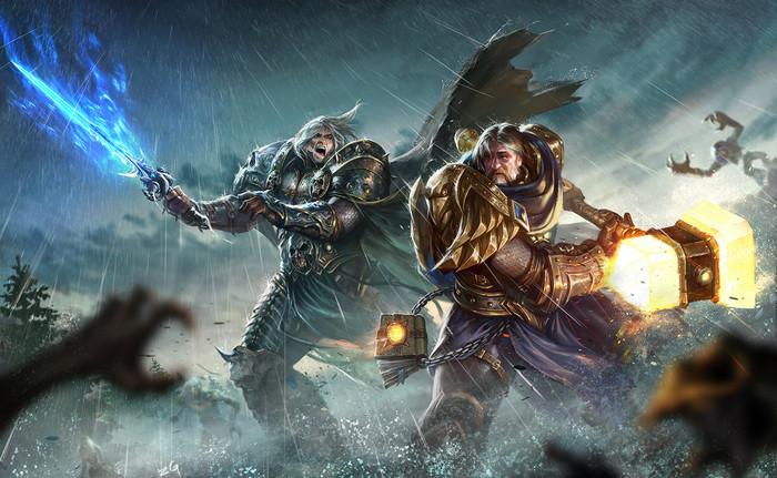 Встречайте трагический финал! World of Warcraft, Арт, Король Лич, Утер Светоносный