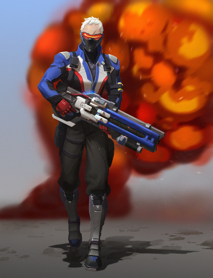 Солдат 76. Overwatch, Soldier 76, Арт