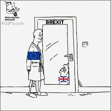 Европа прямо сейчас Великобритания, Европа, Brexit, Гифка, Политика
