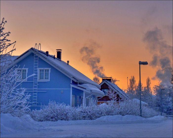 Зима с ясным небом всегда красива