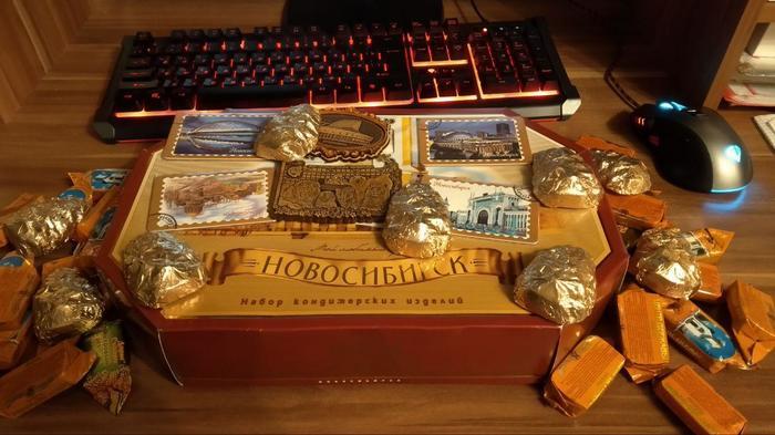 Вкусняшки из Новосибирска Обмен подарками, Отчет по обмену подарками, Новосибирск, Латвия, Длиннопост, Тайный Санта, Кот