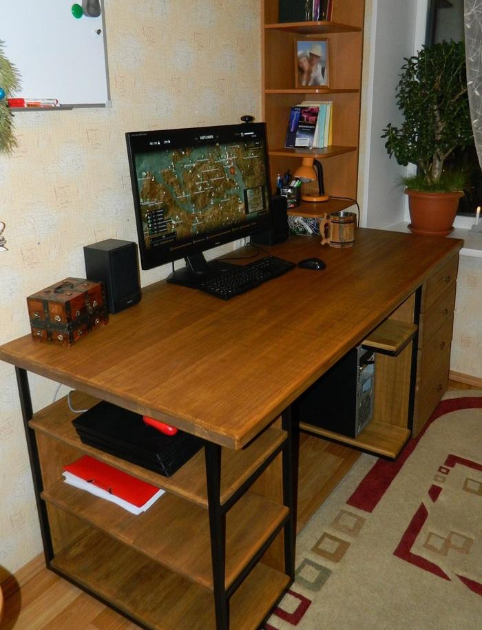Компьютерный стол Стол, Своими руками, Рукоделие без процесса, Работа с деревом, Длиннопост
