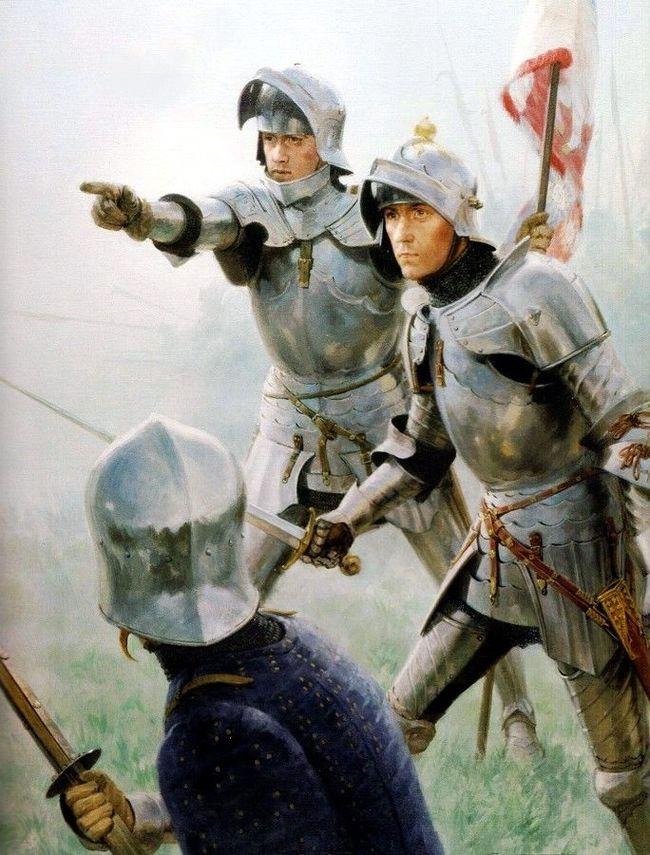 Картины Грэма Тёрнера о Войне Роз Арт, Битва, Доспехи, Средневековье, Война, Рисунок, Длиннопост